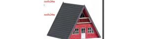 Stavebnice, chatka, červené dřevo, TT, Busch 8838