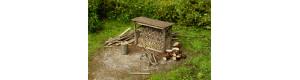 Dřevník s nářadím, stavebnice, TT, Model Scene 91516