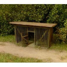 Stavebnice laťkové kůlny, H0, Model Scene 98526