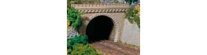 Tunelový portál dvojkolejný, 2 kusy, H0, Auhagen 11343