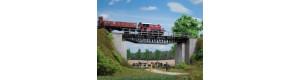 Příhradový most, TT/H0, Auhagen 11365