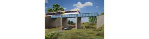 Prodloužení mostu s plechovou mostovkou, H0, Auhagen 11442