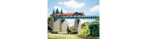 Příhradový ocelový most obloukový, TT, Auhagen 13325