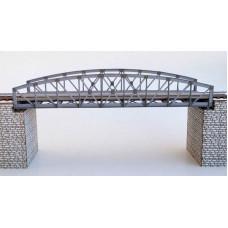 Ocelový obloukový most s dolní mostovkou, bez pilířů, TT, KB model 4409