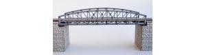 Ocelový obloukový most s dolní mostovkou, bez pilířů, H0, KB model 5409