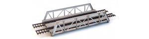 Ocelový příhradový most dvojkolejný, H0, KB model 5414