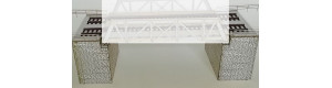 Pilíře dvojkolejného mostu, TT, KB model 4415