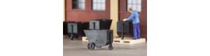 """Průmyslové vozíky """"hunty"""", 9 kusů, H0, Auhagen 41640"""