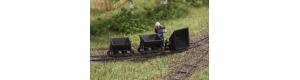 Atrapa tří kusů výsypných vozíků polní drážky, TT, Auhagen 43702
