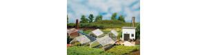 Zahradnictví - skleníky, H0/TT, Auhagen 12351