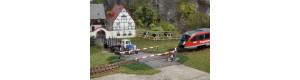 Železniční přejezd, hotový model, H0, Auhagen 41582