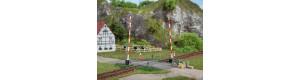 Železniční přejezd, stavebnice, H0, Auhagen 41604