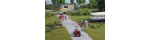 Železniční přejezd, poloviční závory, H0, Auhagen 41625