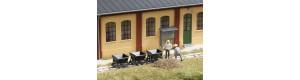 Výsypné vozíky, atrapa, 3 kusy, H0, Auhagen 41702