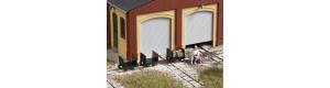 Plošinové vozíky s čelními stěnami, atrapa, 3 kusy, H0, Auhagen 41704