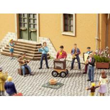 """Sada figurek """"Pouliční muzikanti"""", se zvukovým modulem, TT, Noch 12905"""