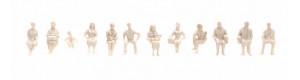 Sedící figurky, 1:100, nebarvené, řada pro architekty, Noch 16000