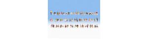 Mega set sedících figurek, bez laviček, 60 kusů, TT, Noch 46071