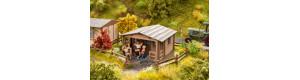 Dřevěný zahradní domek, stavebnice, TT, NOCH 14435