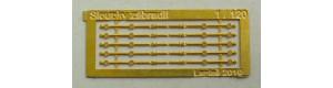 Litinové sloupky zábradlí, 5 kusů, TT, Lepieš 19