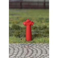 Hydrant nadzemní, červený, 3 kusy, TT, ES Pečky 19336