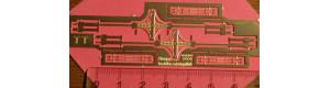 Litinové sloupy na kryté nástupiště, 2 kusy, TT, Lepieš 11