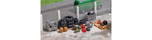 Bedny, palety, pneumatiky, TT, Busch 8832