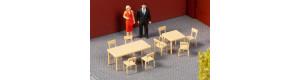 Stoly a židle, H0, Auhagen 41671
