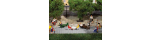 Zahradní stoly a židle, H0/TT, Auhagen 42647