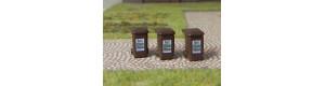 Popelnice na bioodpad, 3 kusy, H0, ES Pečky 23417