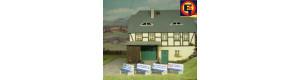 Betonové lavičky s reklamou, 4 kusy, H0, ES Pečky 23326