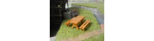 Stavebnice zahradního nábytku, H0, ES Pečky 23419