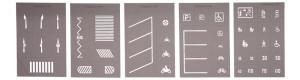 Šablony pro tvorbu vodorovného dopravního značení, TT, Noch 48600