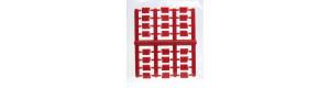 Doplňková sada kanystrů na PHM pro nákladní automobily, červené, TT, Haedl 910041-06