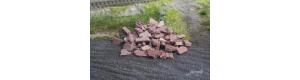 Stavební suť, úlomky cihlově červené, 40 g, TT, Juweela 21213