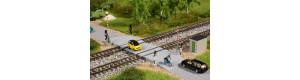 Železniční přejezd s polozávorami, N, Auhagen 44649