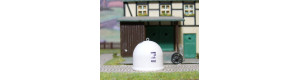 Kontejner kulatý na bílé sklo, H0, ES Pečky 23347