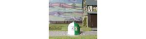 Kontejner kulatý na bílé a barevné sklo, H0, ES Pečky 23350