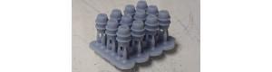 Hliníkové sudy 100l, sada 12 kusů, TT, MFL D0005