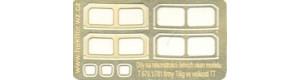 Leptané detaily T 679.1- čelní okna, TT, Hekttor 12005