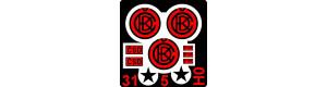 Tabulky ČKD (315 mm) + štítky (červené), H0, POJ VIP_87TCKD315