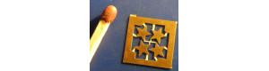 Hvězdy pěticípé, 4,5 mm, 4 kusy, H0, Lepieš H058