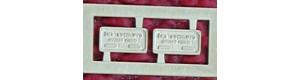 Výrobní štítky ČKD Sokolovo, 2 kusy, H0, Lepieš H053