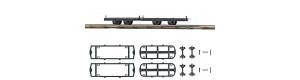 Stavebnice dvou podvozků pro úzkorozchodné vozy, H0f, Busch 12295