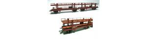 Stavebnice dvojdílného vozu na přepravu aut Laaeks, základ, TT, Malá železnice 25023.51