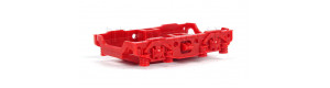 Kryt podvozku s maskami pro tendr lokomotivy BR 50 DR, červený, TT, Tillig 3011xx