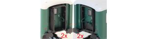 Přechodové měchy pro vozy Bai, 2 + 2 kusy, TT, IGRA MODEL 99110002