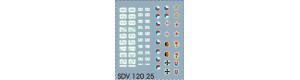 Sada obtisků pro vojenskou techniku, SDV 12025