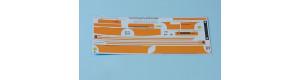Obtisková sada – LC736 ČSAD (oranžové pruhy), H0, MojeTT MTT087205