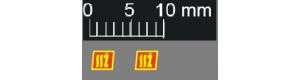 Obtisky, logo Stavby silnic a železnic, 2 kusy, výška 3 mm, starší provedení, TT, Štěpnička D036